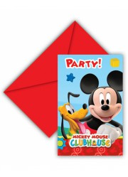 Invitations anniversaire Mickey (x6)
