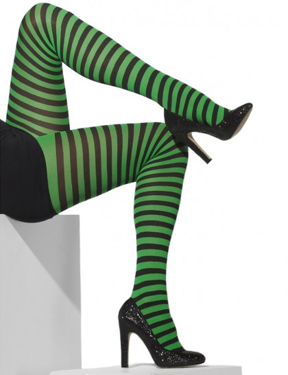Collants verts et noirs adulte