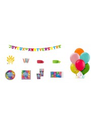 Kit anniversaire ballons luxe (8 pers.)