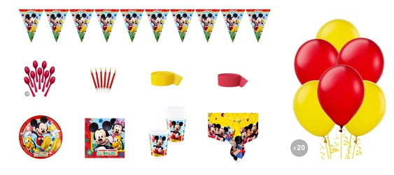 Kit anniversaire Mickey luxe (8 pers.)