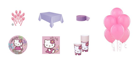 Kit anniversaire Hello Kitty bamboo (10 pers.)