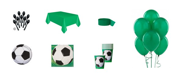 Kit anniversaire football (8 pers.)