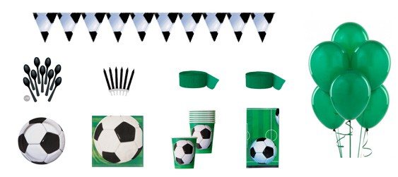 Kit anniversaire football luxe (8 pers.)