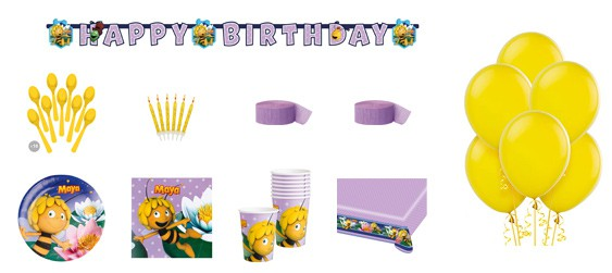 Kit anniversaire Maya l'abeille luxe (8 pers.)