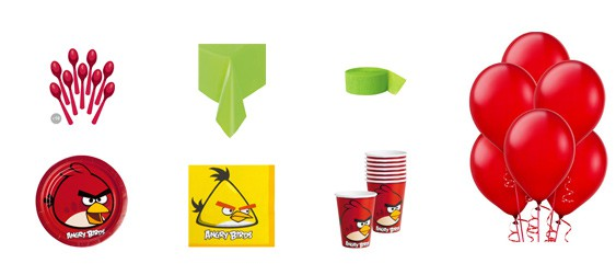 Kit anniversaire Angry birds (8 pers.)