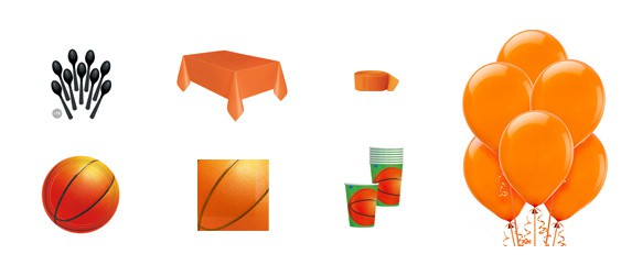 Kit anniversaire basketball (8 pers.)