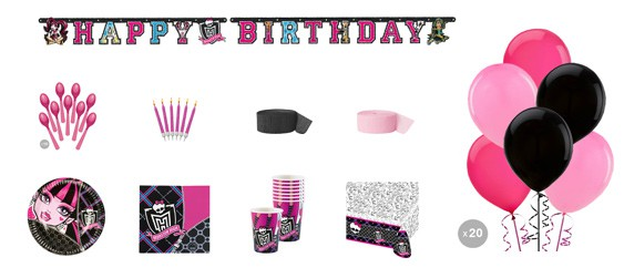 Kit anniversaire Monster High luxe (8 pers.)